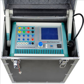 China Large LCD Screen Relay Protection Tester / 3 Phase Relay Test Kit Dual Operation Model supplier